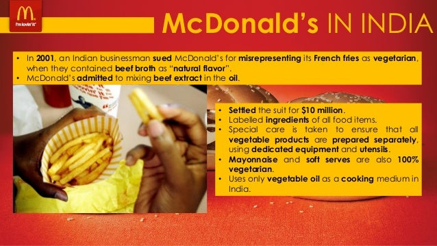 pestle mcdonalds in india Will be examined in this thesis are starbucks, mcdonald's mccafe  india is also one of the emerging markets throughout the world that is becoming a.