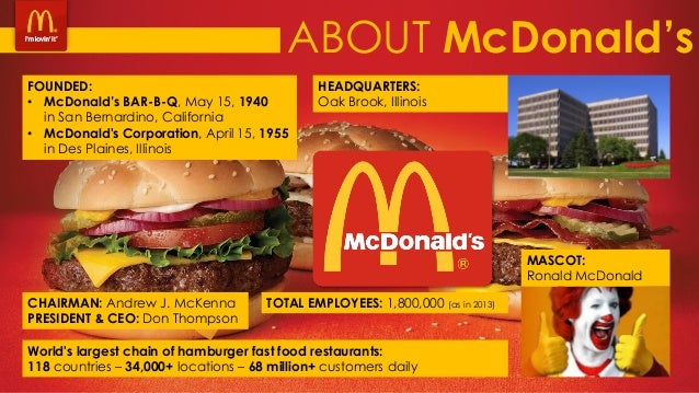 an analysis of mcdonalds corporation business report