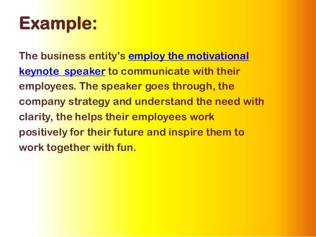 example of motivational speech