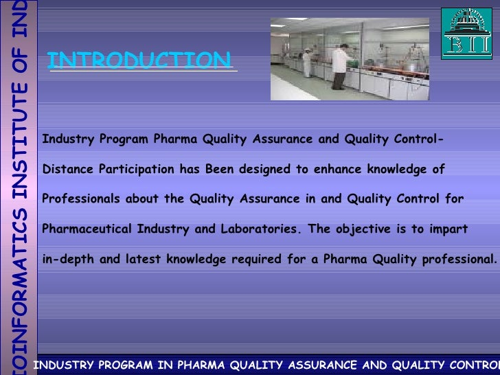 Introduction to quality assurance/project essay