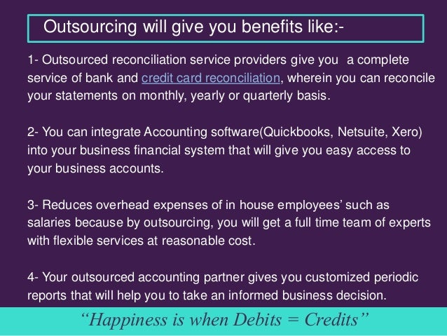 outsourced bank account reconciliation the right time to plunge into