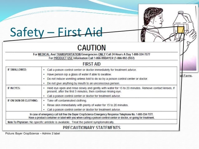 Illustrations: Pesticide Safety for Small Farms, UC ANR Pub. 21555 Safety – First Aid Call the nearest place for medical c...