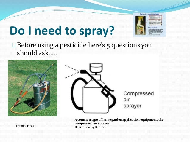 Do I need to spray? Before using a pesticide here's 5 questions you should ask….. A common type of home garden application...