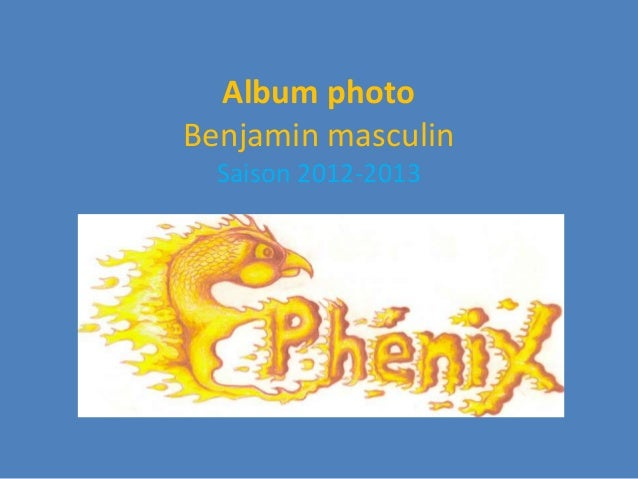Album photoBenjamin masculin  Saison 2012-2013