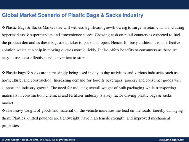 Plastic Bags Research Proposal