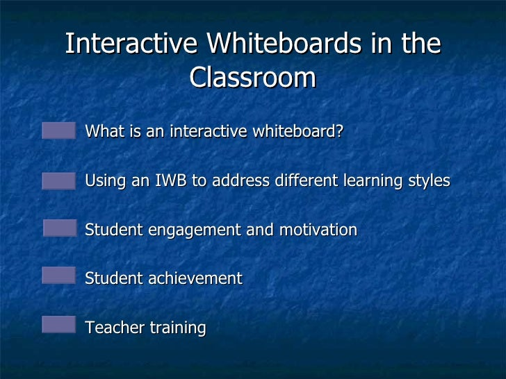 Interactive Whiteboards in the Classroom <ul><li>What is an interactive whiteboard? </li></ul><ul><li>Using an IWB to addr...