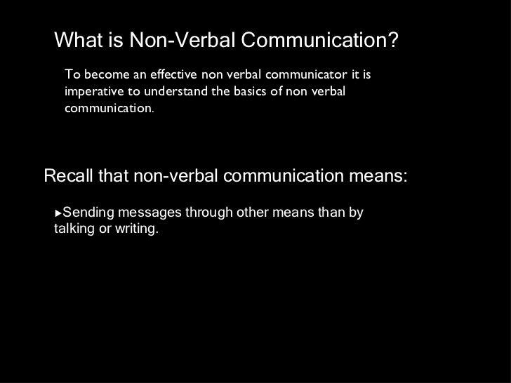 Non Verbal communication slides Slide 2