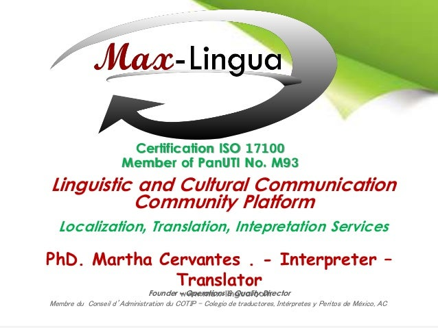 Linguistic and Cultural Communication Community Platform Localization, Translation, Intepretation Services www.max-lingua....