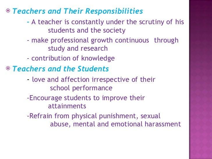 Professional Ethics for Teachers