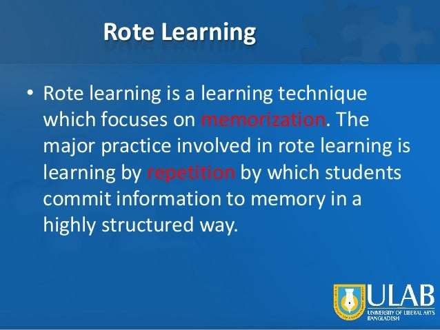 how to avoid rote learning