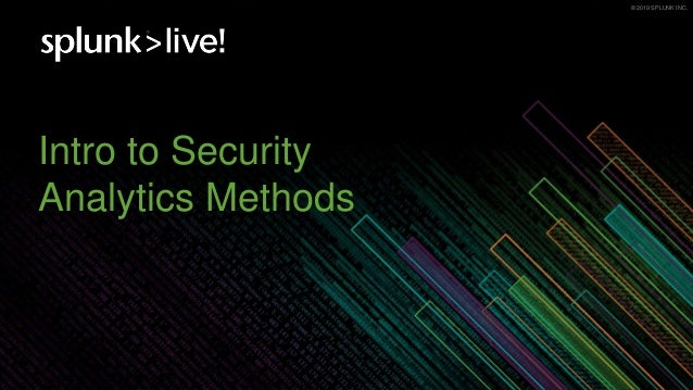 Introduction into Security Analytics Methods