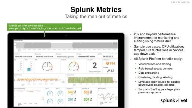 SplunkLive! Munich 2018: Integrating Metrics and Logs