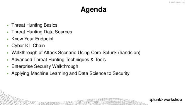 Threat Hunting with Splunk Slide 2