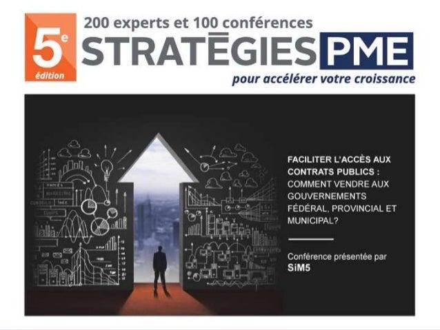Marchés gouv Stratégies PME - 2016 2016-11-24