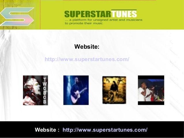 Website: http://www.superstartunes.com/  Website : http://www.superstartunes.com/