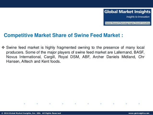 Swine Feed Market Analysis Ongoing Trends Competitive Market Space