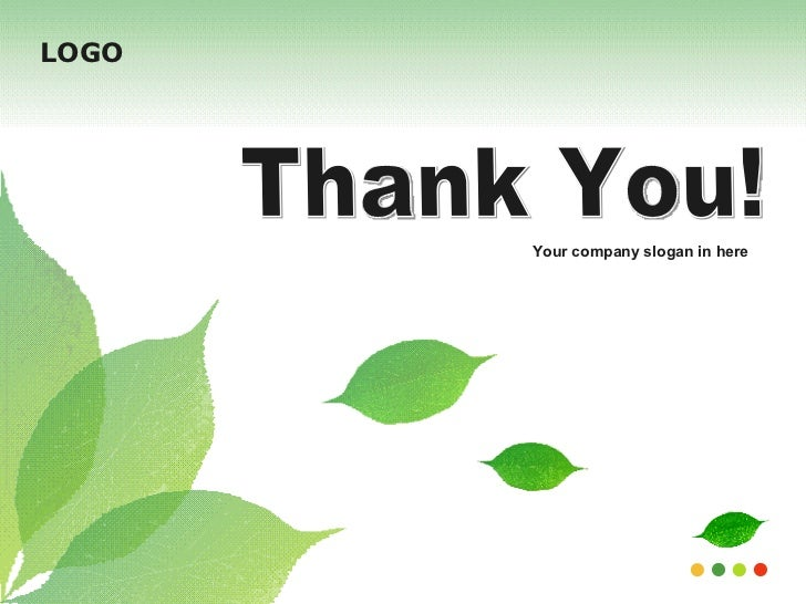 Ppt template thank you your company slogan in here logo toneelgroepblik Image collections