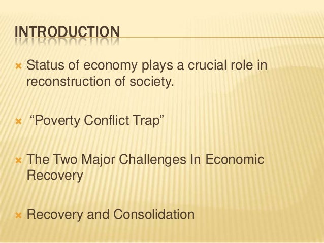 Economic reconstruction of African post-conflict states Essay Sample