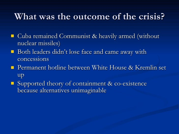 a bibliography of cuban missile crisis The cuban missile crisis was a success for containment because america managed to get the nuclear missiles off of cuba this is a success because the usa got the ussr to take the nuclear weapons off of cuba and secretly took their missiles off of turkey.
