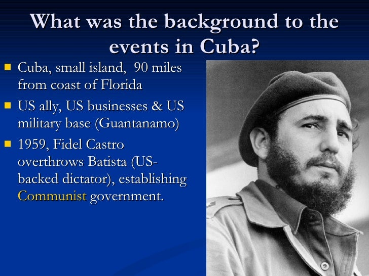 an overview of the infamous cuban missile crisis The cuban missile crisis remains of great interest to scholars, but a lack of public interest suggests that understanding how humans make history takes a the infamous bay of pigs fiasco, where a cia-led invasion of cuba failed, which took place four months after kennedy's inauguration, confirmed that.
