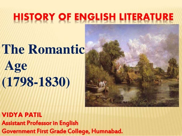 Famous romantic period poets