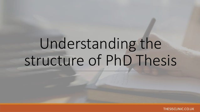 Scientific phd thesis structure