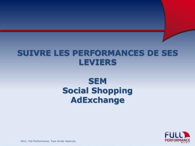 SUIVRE LES PERFORMANCES DE SES LEVIERS SEM Social Shopping AdExchange  2011, Full Performance, Tous droits réservés.