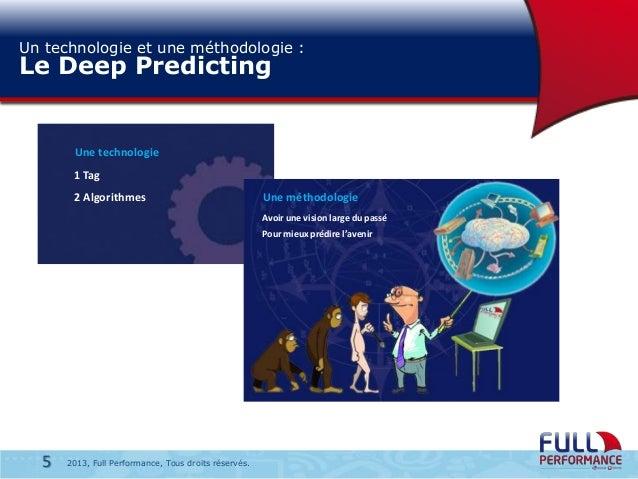 Un technologie et une méthodologie :  Le Deep Predicting  Une technologie 1 Tag  2 Algorithmes  Une méthodologie Avoir une...