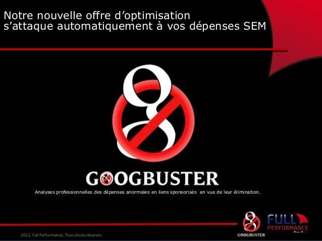 Notre nouvelle offre d'optimisation s'attaque automatiquement à vos dépenses SEM  Et si vous n'avez pas envie de le faire ...