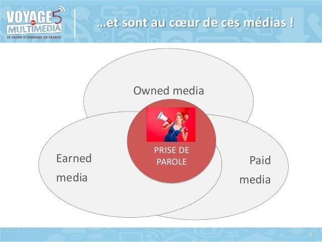 …et sont au cœur de ces médias !  Owned media  Earned media  PRISE DE PAROLE  Paid media  4