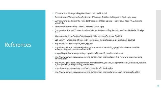 Construction Waterproofing Handbook Pdf