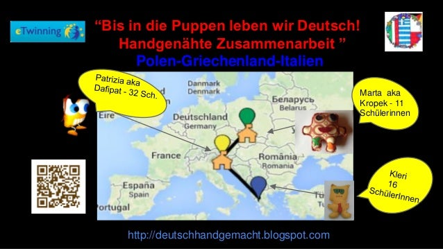 """http://deutschhandgemacht.blogspot.com Marta aka Kropek - 11 Schülerinnen """"Bis in die Puppen leben wir Deutsch! Handgenäht..."""