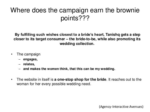 """Where does the campaign earn the brownie points??? By fulfilling such wishes closest to a bride""""s heart, Tanishq gets a st..."""