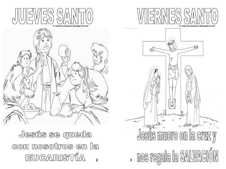 Dibujos Colorear Semana Santa Infantil: Semana Santa, Para Niños