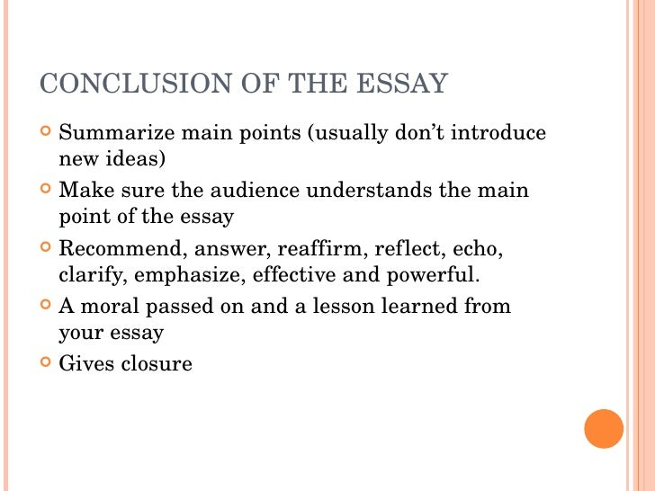 writing a conclusion for an essay