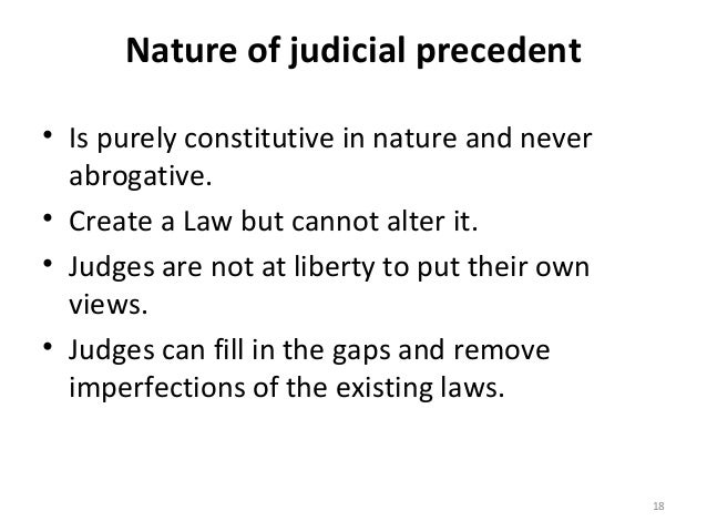 doctrine of precedents in india Courts have applied these doctrines in tandem so as to frequently leave tribes   under current precedent, the court has aggrandized its own power in indian.