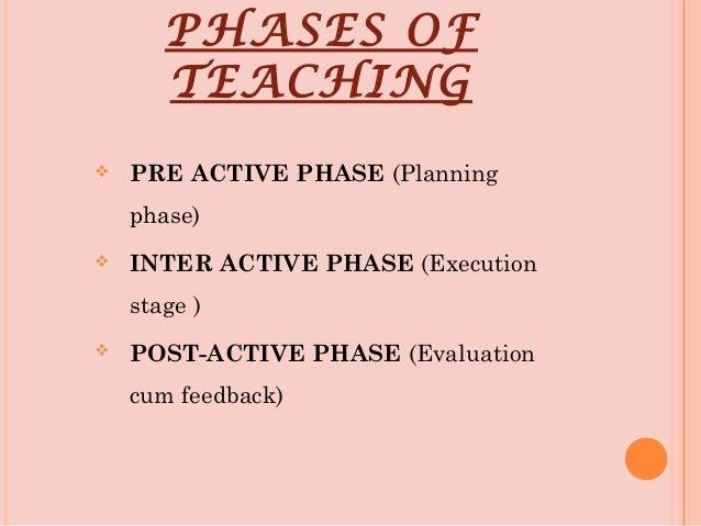 Teaching phases Slide 2