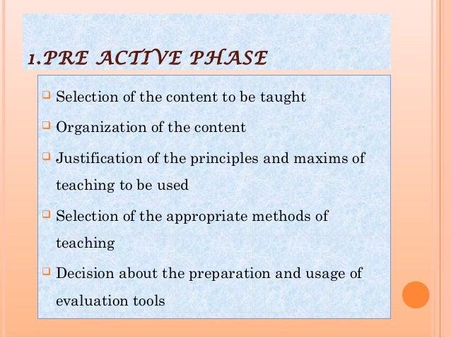 Teaching phases Slide 3