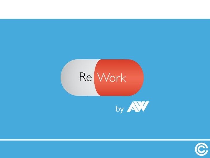 Alexandre Wayenberg - Rework !!! Repensez votre travail aujourd'hui afin d'être plus efficace demain