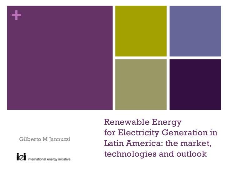 +                      Renewable Energy                      for Electricity Generation inGilberto M Jannuzzi             ...