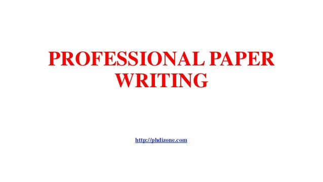 Professional paper writing