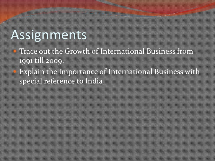 introduction to international business Trade facilitation has emerged as a key factor for international trade  the emergence of e-business,  introduction and modernization of.