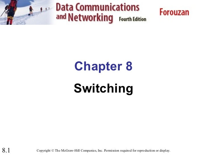 Chapter 8                               Switching8.1   Copyright © The McGraw-Hill Companies, Inc. Permission required for...