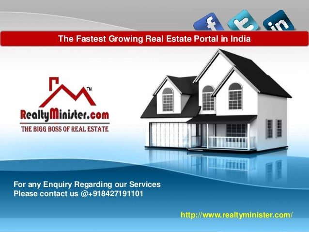 PAGE 1 Company Proprietary and Confidential http://www.realtyminister.com/ The Fastest Growing Real Estate Portal in India...