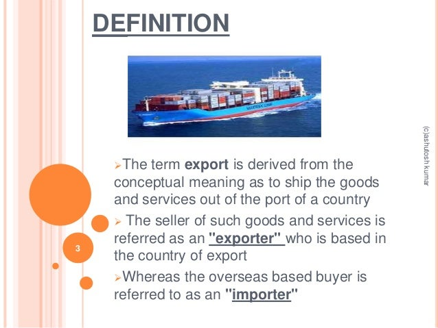 import &export