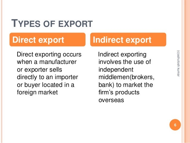 define direct exporting