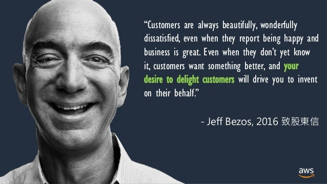 """© 2021, Amazon Web Services, Inc. or its Affiliates. """"Customers are always beautifully, wonderfully dissatisfied, even whe..."""