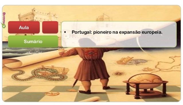Sumário  Portugal: pioneiro na expansão europeia. Aula