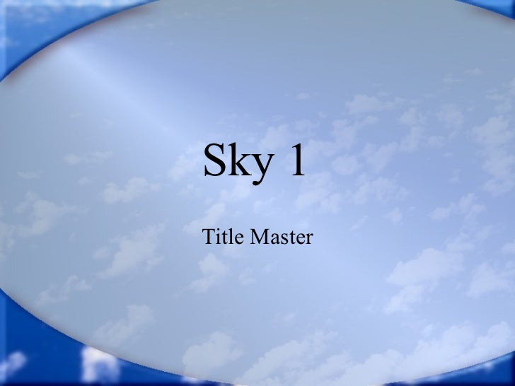 Sky 1   Title Master