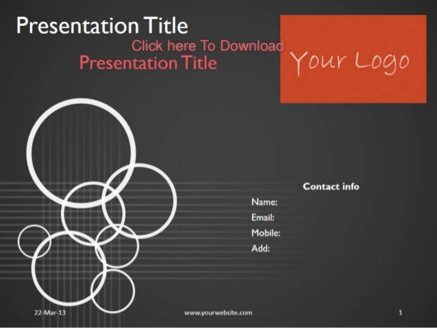 themes for a presentation
